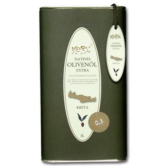 Kerá-Olivenöl 3 L - Natives Olivenöl Extra